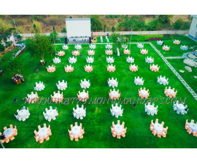 Find the availability of The Reserve Lawns and banquets in Gandhipet, Hyderabad and avail the special offers