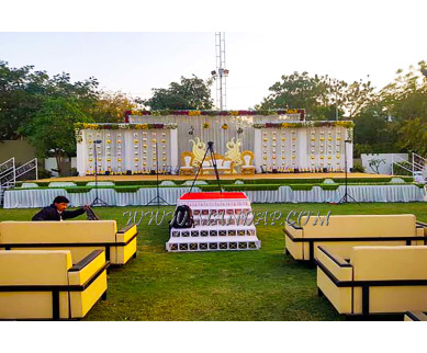 Find the availability of Babul Baugh Party Hall (A/C)  in Thaltej, Ahmedabad and avail the special offers